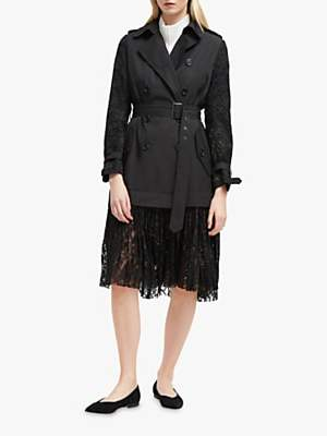 Lace Trench, Black