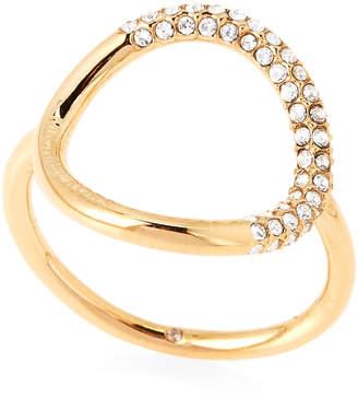 Michael Kors Gold-Tone Pave Circle Ring