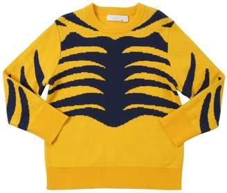 Stella McCartney Tiger Cotton & Wool Knit Sweater
