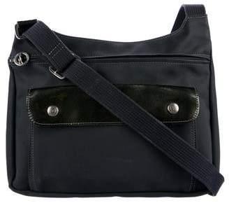 Longchamp Leather-Trimmed Crossbody Bag