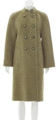 Balmain Double-Breasted Long Coat