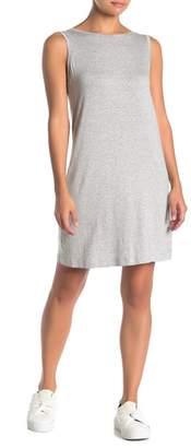 Norma Kamali Heathered Scoop Back Tank Dress