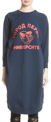 Women's Junya Watanabe Graphic Sweatshirt Dress $495 thestylecure.com