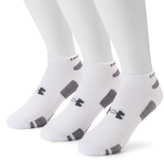 Under Armour Men's 3-pack Heatgear Performance Training No-Show Socks