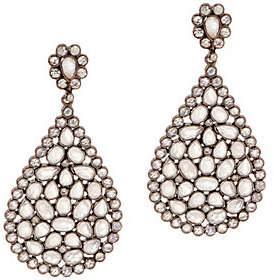 QVC Pear-Shaped Multi-Gemstone Drop Earrings,Sterling Silver