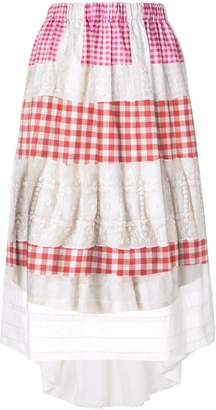 Comme des Garcons embroidered vichy skirt