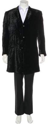 Gianni Versace Velour Three-Button Overcoat