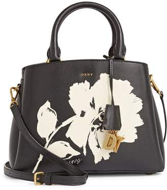 DKNY Floral-Print Leather Crossbody Bag