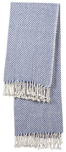 Monogram Herringbone Throw Blanket