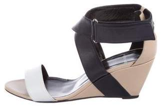 Pierre Hardy Leather Crossover Wedges