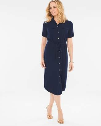 Soft Utility Midi Dress