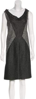 Zac Posen Paneled Tweed Dress