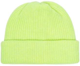 37024ee18f3 The Elder Statesman neon yellow cashmere beanie hat