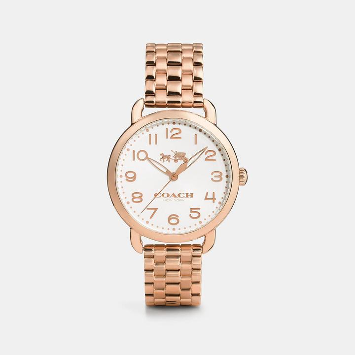 Coach  COACH Coach Delancey Rose Gold Sunray Dial Bracelet Watch