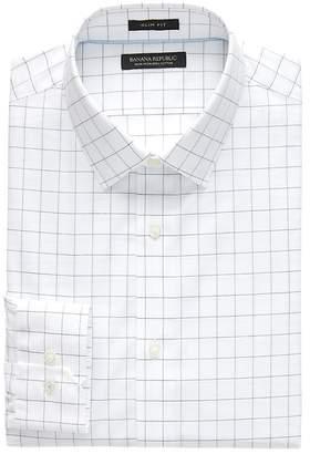 Banana Republic Grant Slim-Fit Non-Iron Check Dress Shirt