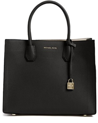 Michael Michael Kors 'Large Mercer' Tote - Black $298 thestylecure.com