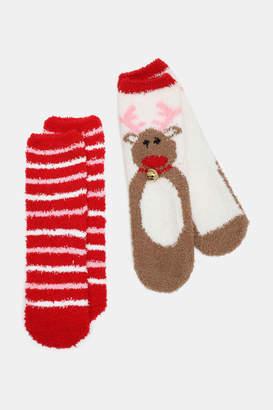 Ardene Pack of Festive Fuzzy Socks