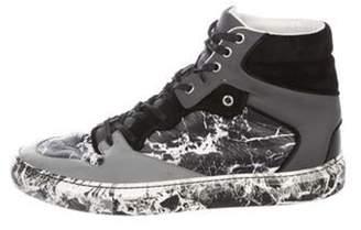 Balenciaga Marble High-Top Sneakers grey Marble High-Top Sneakers