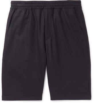 Prada Stretch Virgin Wool-Blend Flannel Shorts