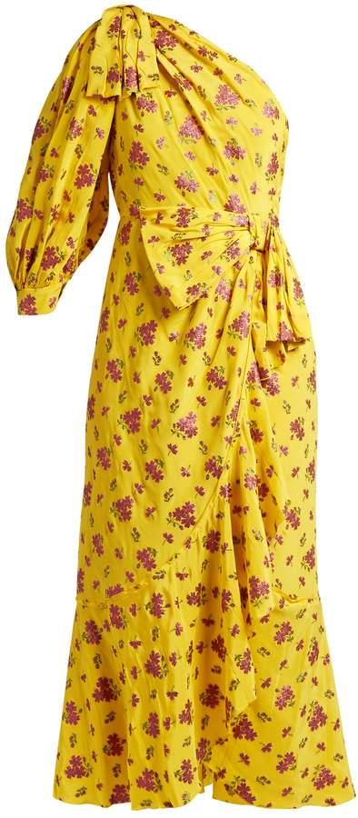 GucciGUCCI Floral fil coupé silk-blend dress