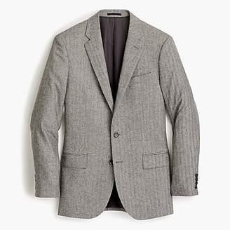 J.Crew Ludlow Slim-fit suit jacket in Italian herringbone flannel wool blend