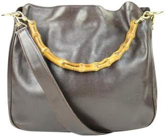 Gucci Vintage Brown Leather Travel Bag