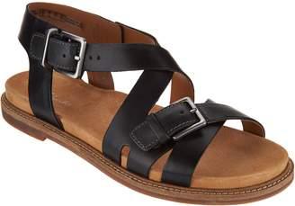 Clarks Artisan Leather Criss Cross Sandals - Corsio Bambi