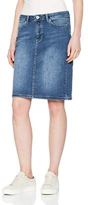 More & More Women's Rock Skirt, (Mid Blue Denim 0962)