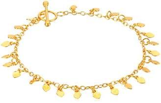 Satya Jewelry Plated Petals Charm Bracelet