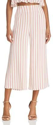 Sage the Label Aurelia Striped Cropped Wide-Leg Pants