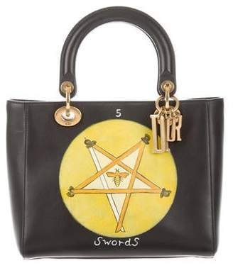 Christian Dior 2018 Swords Motherpeace Tarot Medium Lady Bag