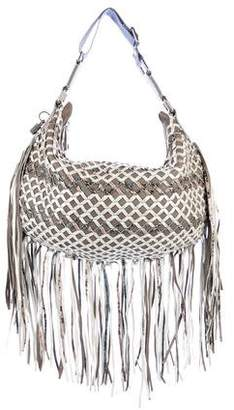 Marc Jacobs Woven Leather Fringe Hobo