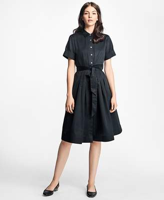Cotton Sateen Shirtdress $198 thestylecure.com