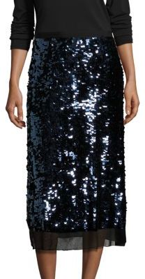Tory Burch Cove Sequin Midi Skirt $595 thestylecure.com
