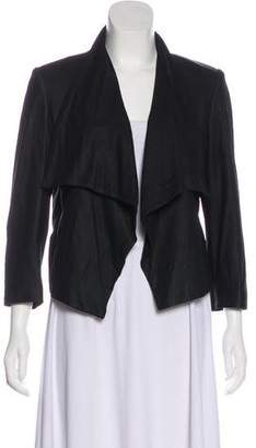 Alice + Olivia Open Front Leather Jacket