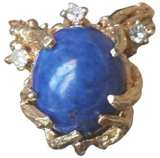 Lapis 14k Gold Nugget 'Tree Branches' Lazuli 'Blue Earth' Diamond White 'Stars Ring