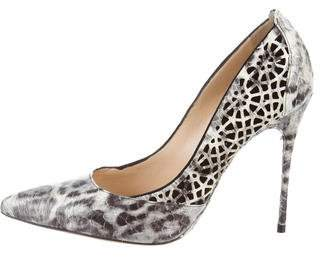 Alexandre Birman Snakeskin Leather Pumps