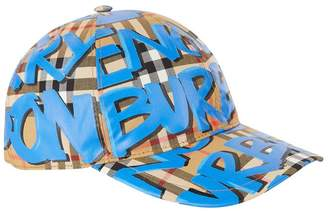 Burberry Graffiti Vintage Check Baseball Cap