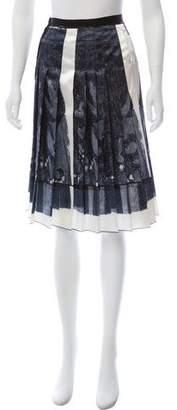 Marc Jacobs Pleated Printed Skirt