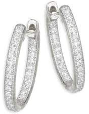 Jude Frances Lisse Diamond Small Oval Hoop Earring