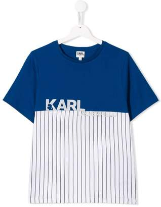 Karl Lagerfeld Paris TEEN colour block T-shirt