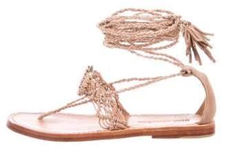 Ulla Johnson Suede Wrap Around Sandals