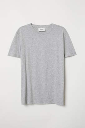H&M Cotton and Silk T-shirt - Gray