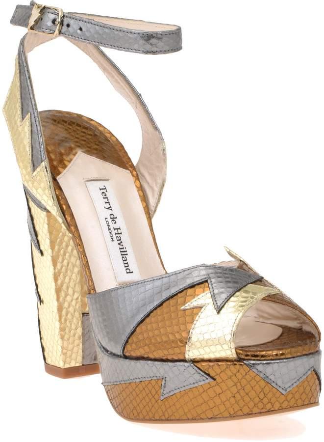 Terry De Havilland Leather Sandal