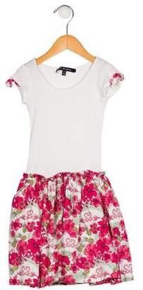 Lili Gaufrette Girls' Floral Print A-Line Dress