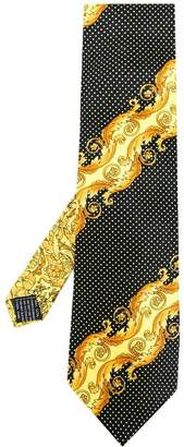 Versace Pre-Owned baroque printed dotted tie