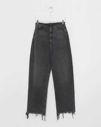 Alexander Wang Grey Aged Split Jean