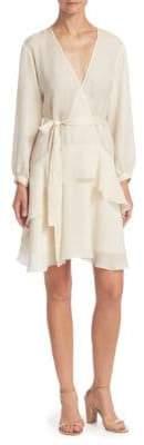 Halston Textured Micro Satin Shift Dress