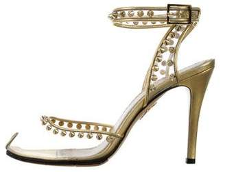 Charlotte Olympia Studded High-Heel Sandals