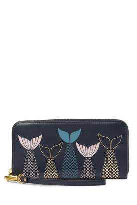 Fossil Emma Large Zip Leather Wallet